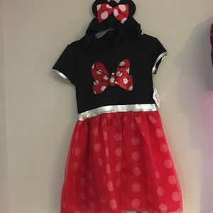 Minnie Mouse Dress with hoodie